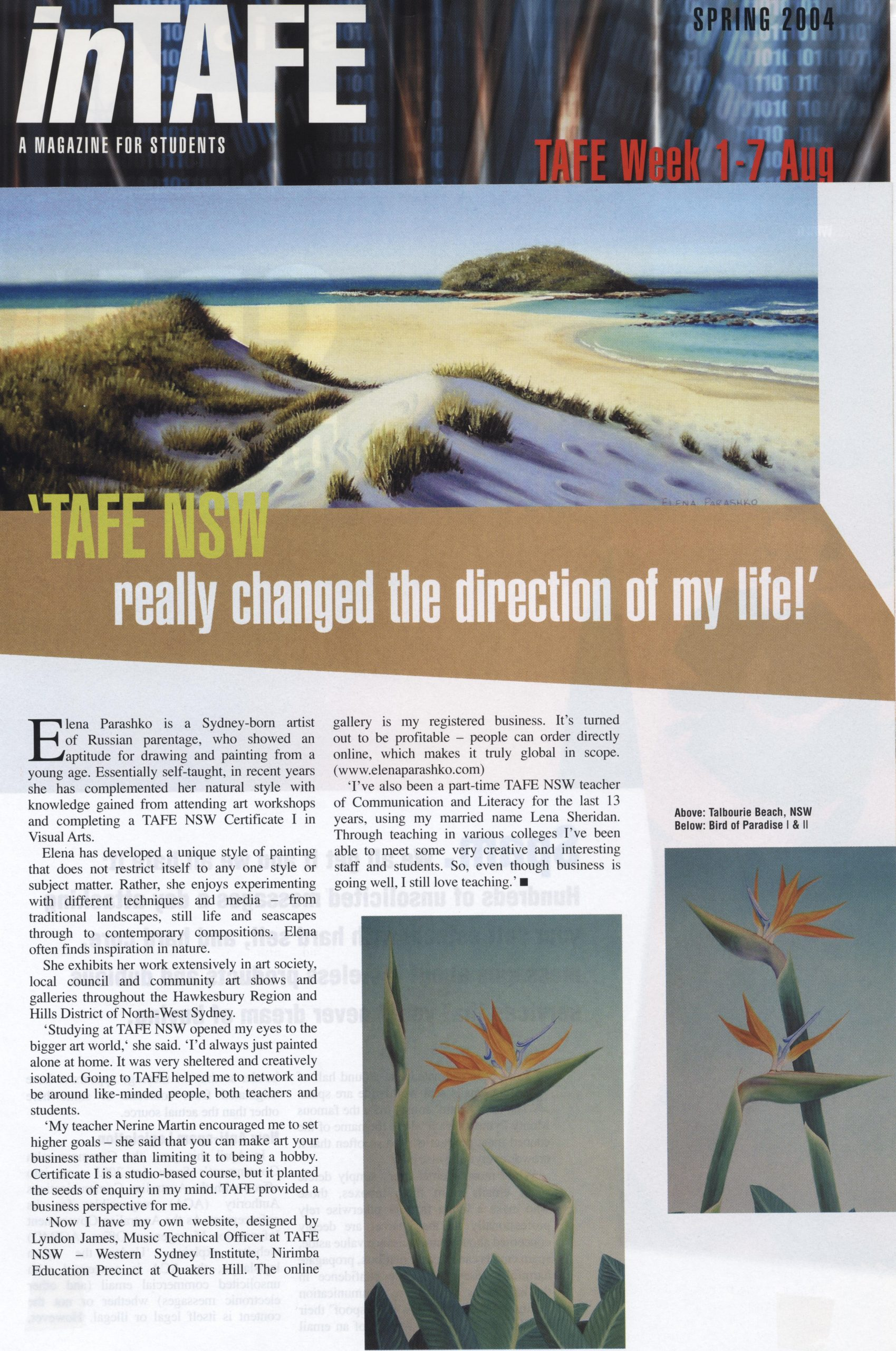 In Tafe magazine