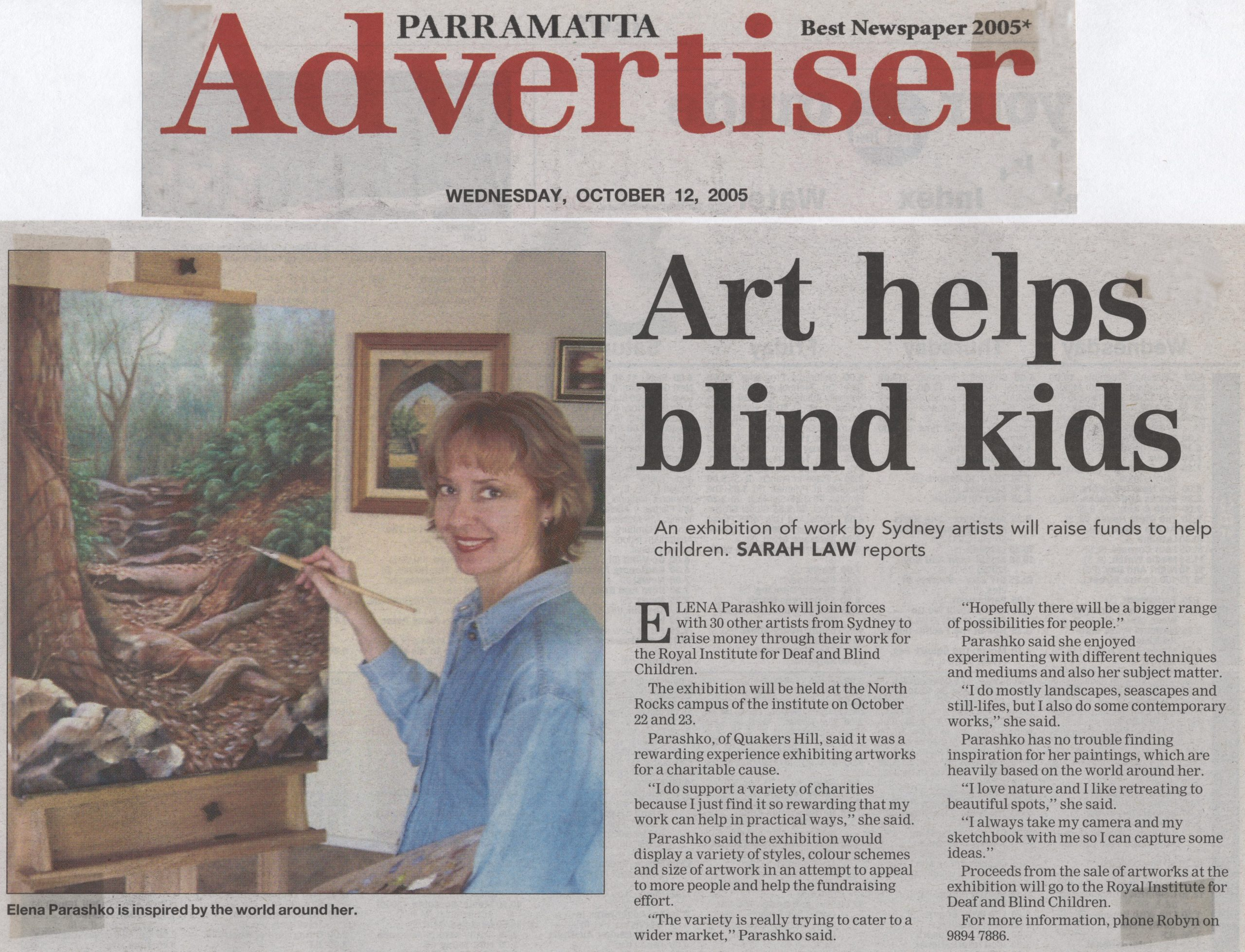 art helps blind kids