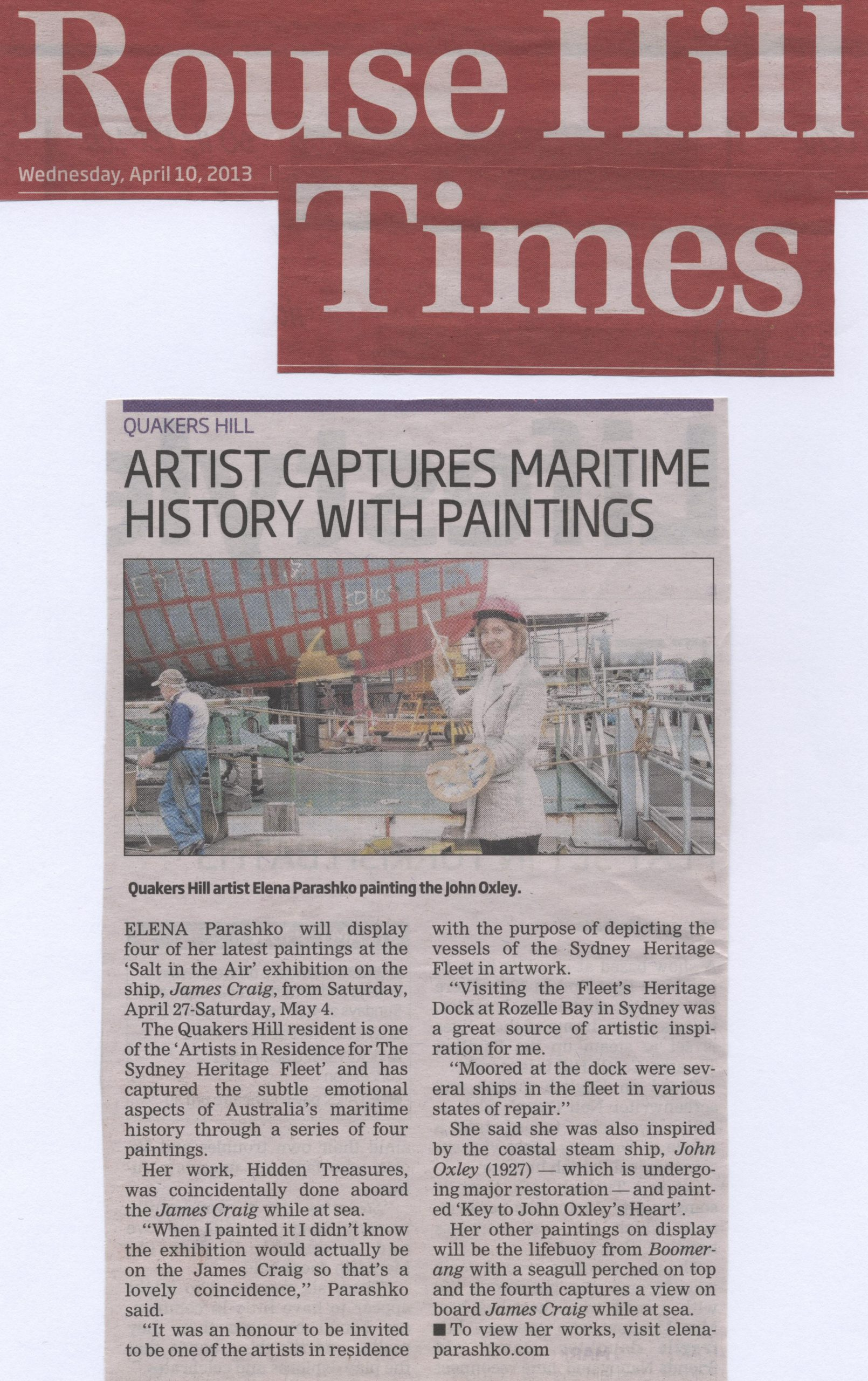 Artist Captures Maritime History