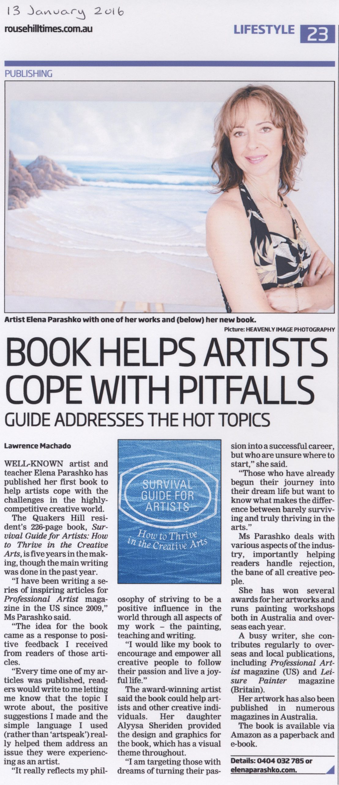 Book Helps Artists Cope